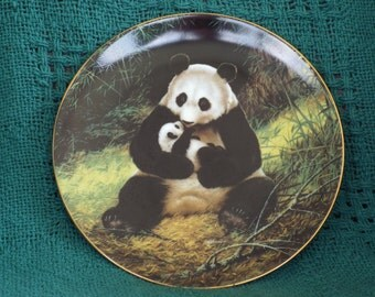 Vintage Collectible Plate; The Panda by Will Nelson; W.L. George Fine China