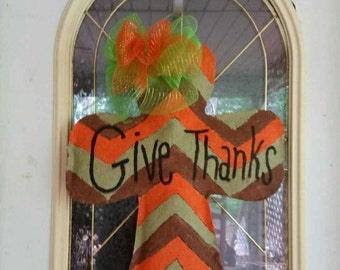 Give Thanks Burlap Door Hanger