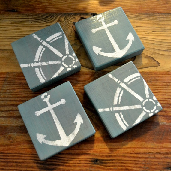 Beach Wooden Drink Coasters Lake Life Drink Coasters Wooden