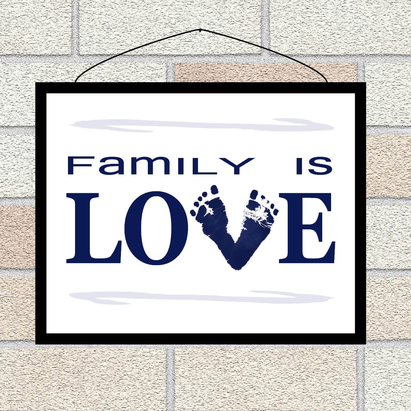 Footprints Wall Decor : Baby footprints family is love wall art father s day