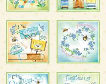 Quilting Bee Collection - Multi Quilting Bee Panel by Michelle Palmer for Red Rooster