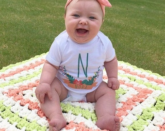 Custom Baby Girl Onesie, Custom Shirt, Monogram Baby Girl, Newborn Girl Coming Outfit, Personalize Onesie, Baby Shower Gift, Personalized