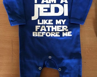 I am a jedi like my father before me Baby Rompersuit / Playsuit