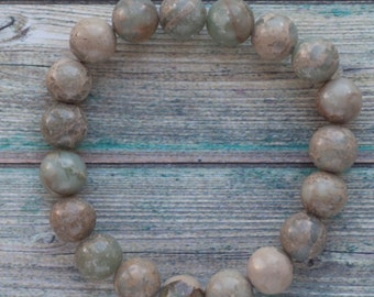 Impression jasper bracelet, natural aqua terra bracelet
