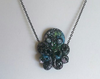 Space Octopus Necklace