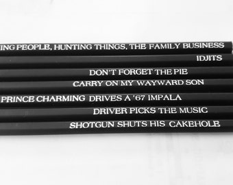 Supernatural pencil gift set  Nerd Gift/Birthday present