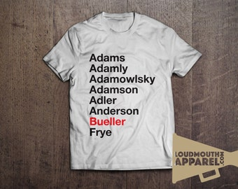 Ferris Bueller Register Movie T-Shirt