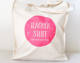 Wine Teacher Tote Bag/Shopping Bag/Eco Bag, Teacher tote
