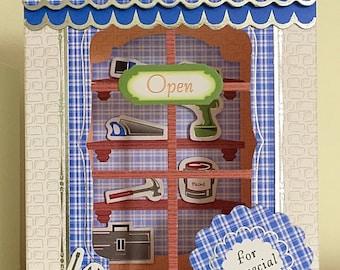 DIY shop window card