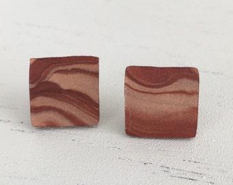 Brownie swirl stud earrings