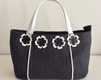 Linen bag with fioricini (by the order)