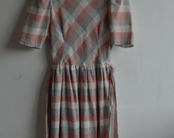 Gingham Dress, 50's inspired dress, gingham dress 50's, size 12