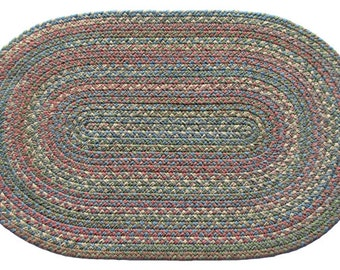 Highland Bloom WOOL 3'x5' Oval Braided Rug