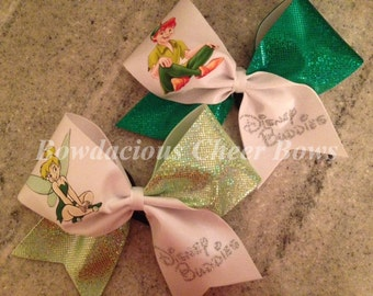 Peter Pan and Tinkerbell Disney Buddies Cheer Bows
