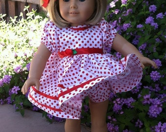 Dinky Baby Pattern 277 - American Doll Shirley Temple Dress - Outift for 18 inch dolls - PDF Pattern - Instant Download