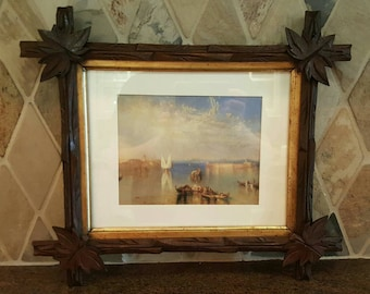 Stunning late 1800's Victorian Adirondack  carved frame