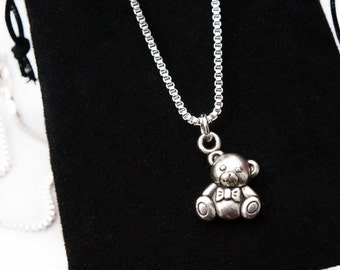 Sterling Silver Necklace, Teddy Bear Necklace, Teddy Bear, Teddy, Bear Necklace, Silver Necklace, Silver Jewellery, Pendant Gift, Jewelry