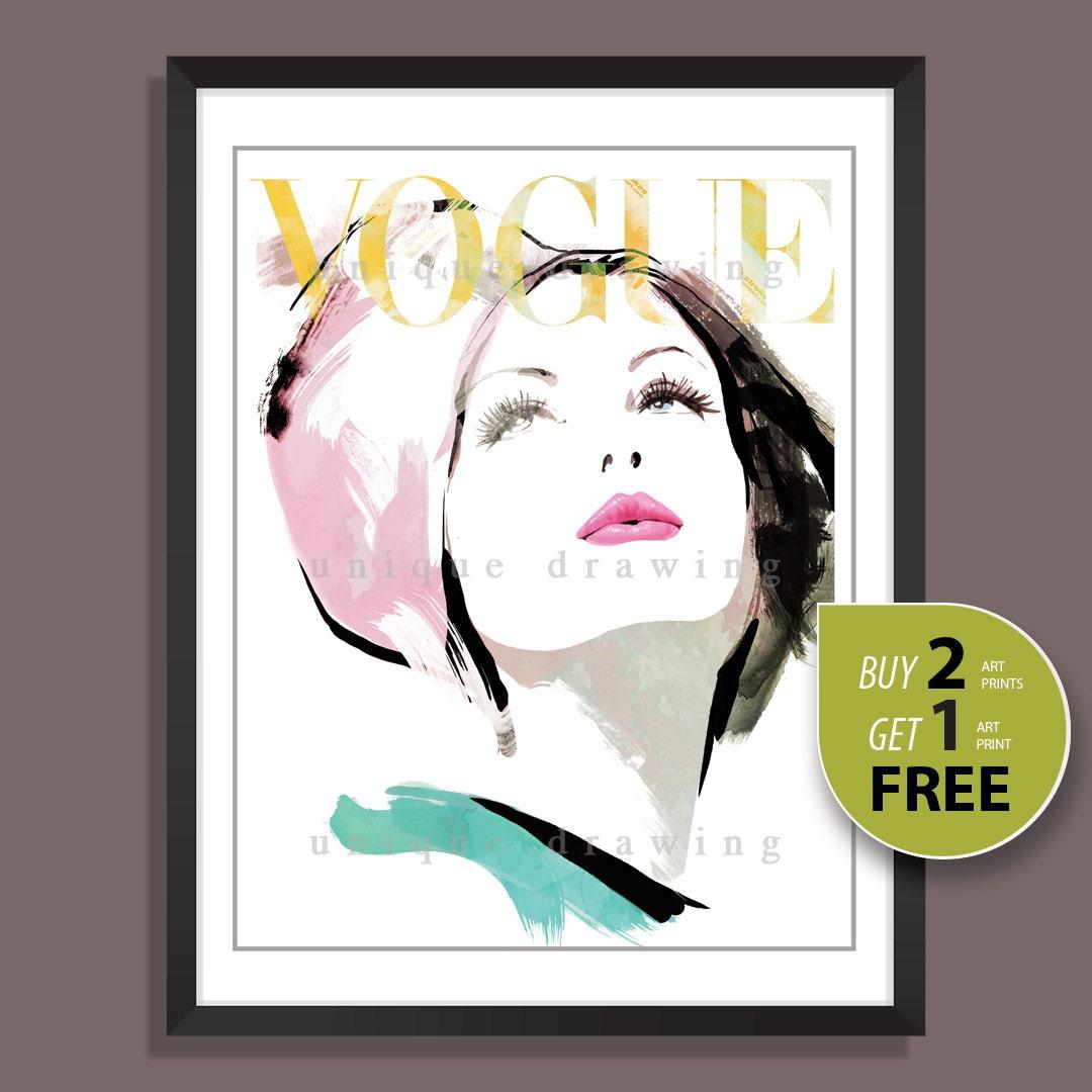 Vogue Wall Art Fashion Print Fashion Illustration Fashion Art Fashion Wall