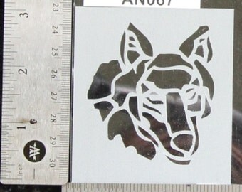 "Wolf Stencil 3"" x 2-3/4"", 7 mil - AN067"