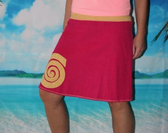 Corduroy Skirt A-form spiral rotary