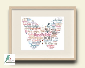 Word art etsy butterfly personalised word art gift keepsake for any occassion birthday christening new pronofoot35fo Choice Image