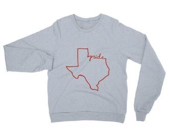 State Pride- Texas Raglan Sweater- Texas Sweatshirt- Texas Pride- Lone Star State- Sweatshirt- Cute Sweater- Ladies Sweatshirt- Gift for Her
