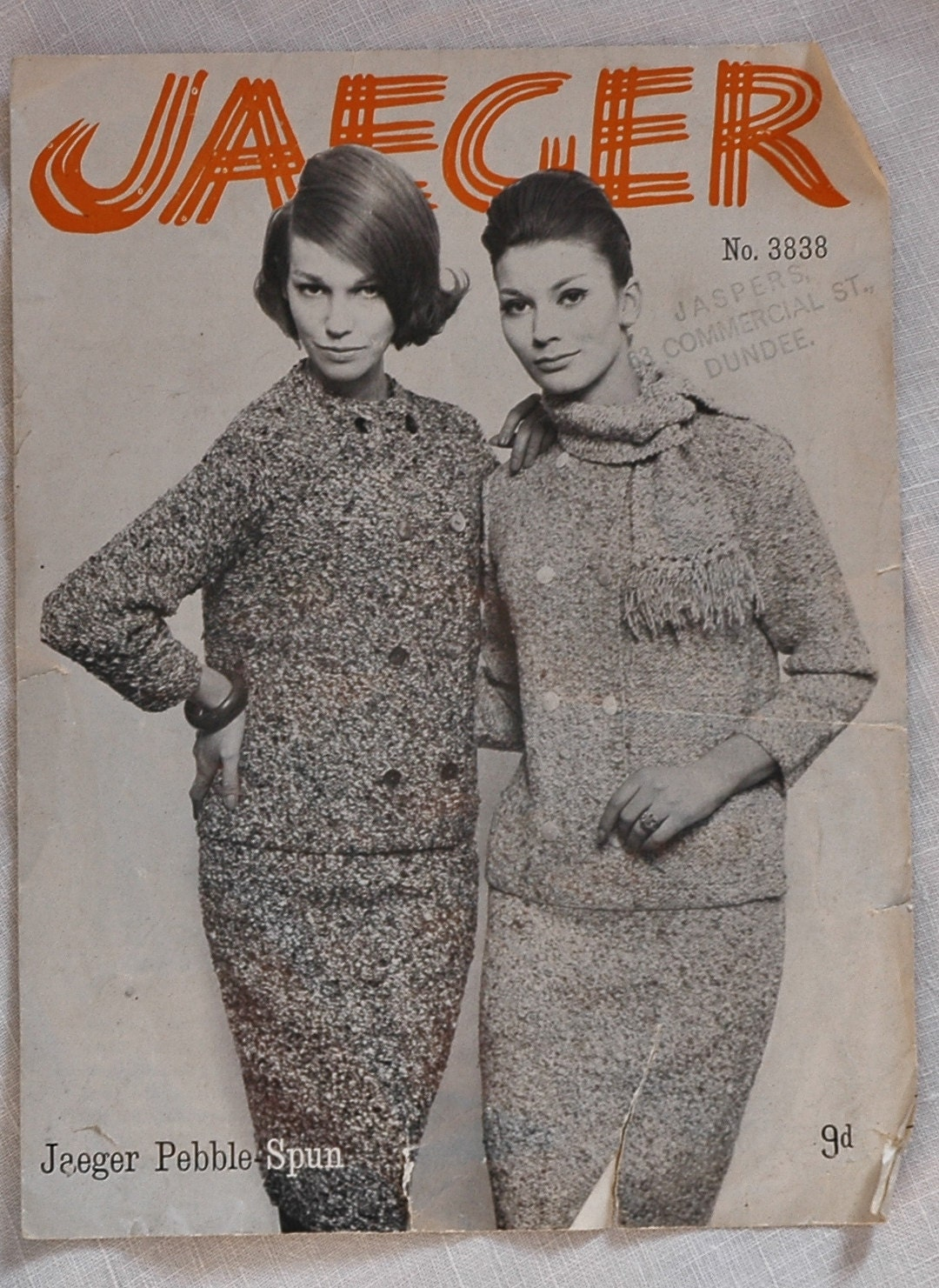 Vintage jaeger knitting pattern jacket scarf and skirt 1960s details vintage jaeger knitting pattern bankloansurffo Images