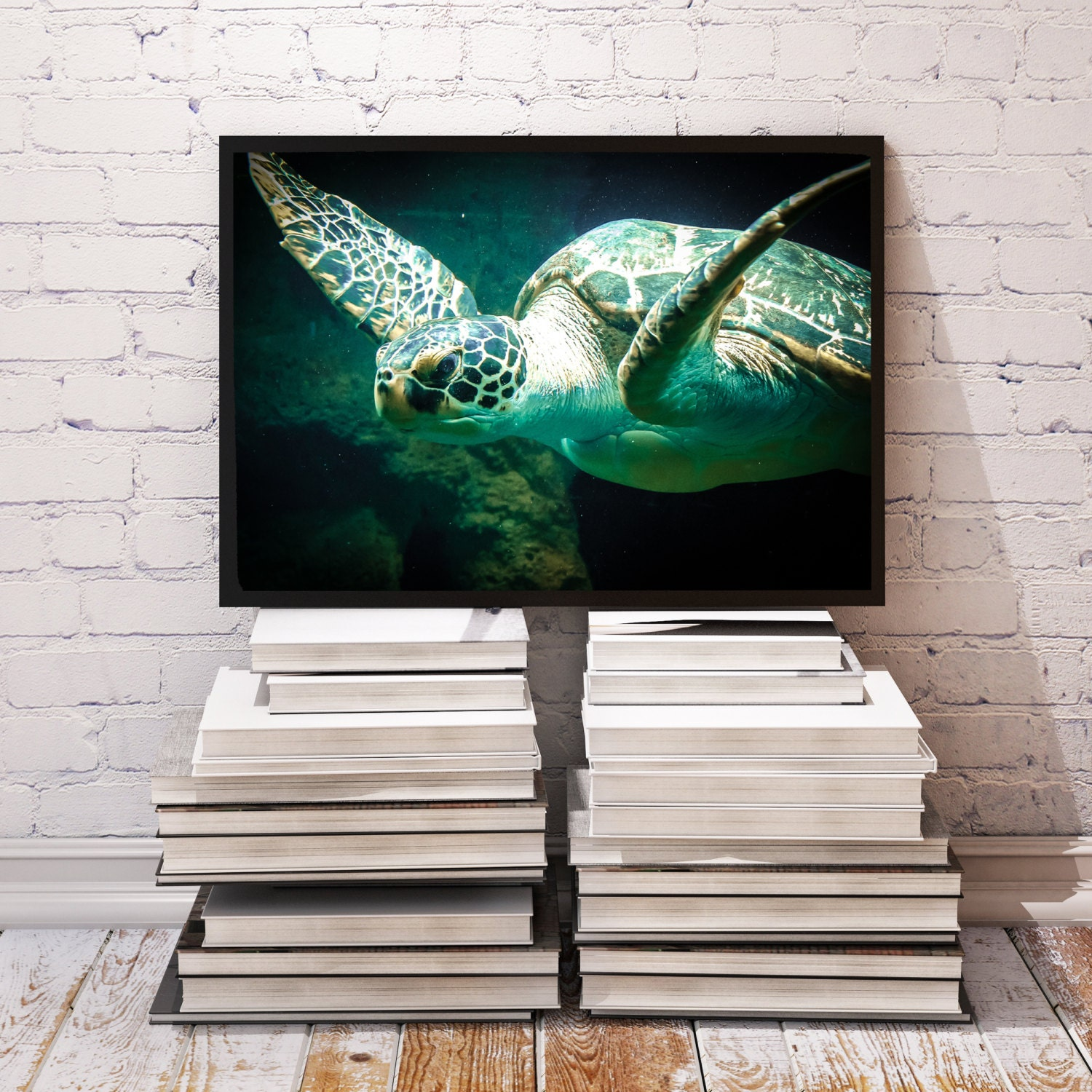 Sea Turtle Poster Bedroom Decor Underwater Print