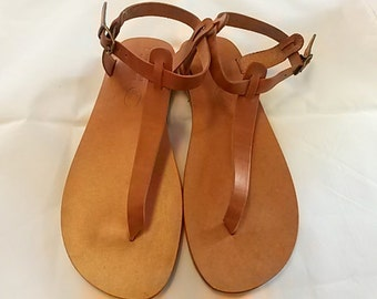 Greek Leather Sandals (38 - White)