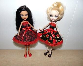 "Set ""Spring"" dress and shoes for dolls Monster High, handmade."