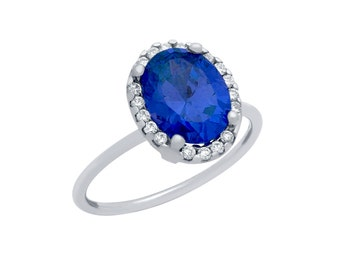 Sapphire ring. Blue sapphire ring. Sterling silver blue sapphire cz ring. September birthstone ring. Blue stone ring. Dark blue stone ring.