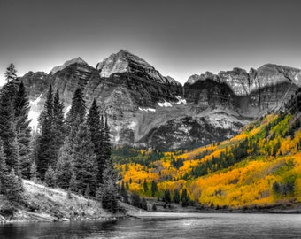 Landscape Photography - Maroon Bells | Apen, Colorado | Canvas and/or Print