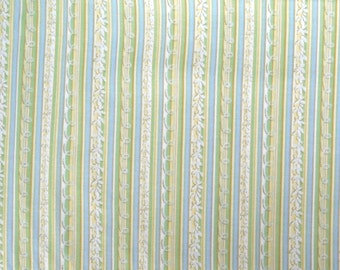 Quilting Treasures - Alphabet Garden - 1649-25636-GB - Green and Blue Stripes - 1 yard