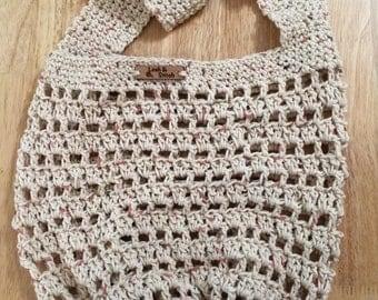 Crochet Cream Market Bag. Beach Bag. Reusable Bag. Grocery Bag. Farmers Market Bag. Crochet Cotton Bag. Tote Bag.