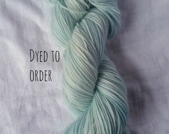 First Snow - Hand-Dyed / Hand-Painted Yarn - Superwash Merino Wool - Dyed To Order