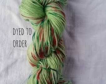 Holly Jolly - Hand-Dyed / Hand-Painted Yarn - Superwash Merino Wool - Dyed To Order