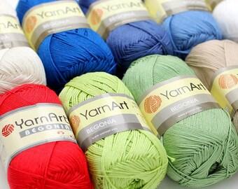 BEGONIA Yarnart 100% mercerized cotton yarn for crochet and knitting  50g - 169m