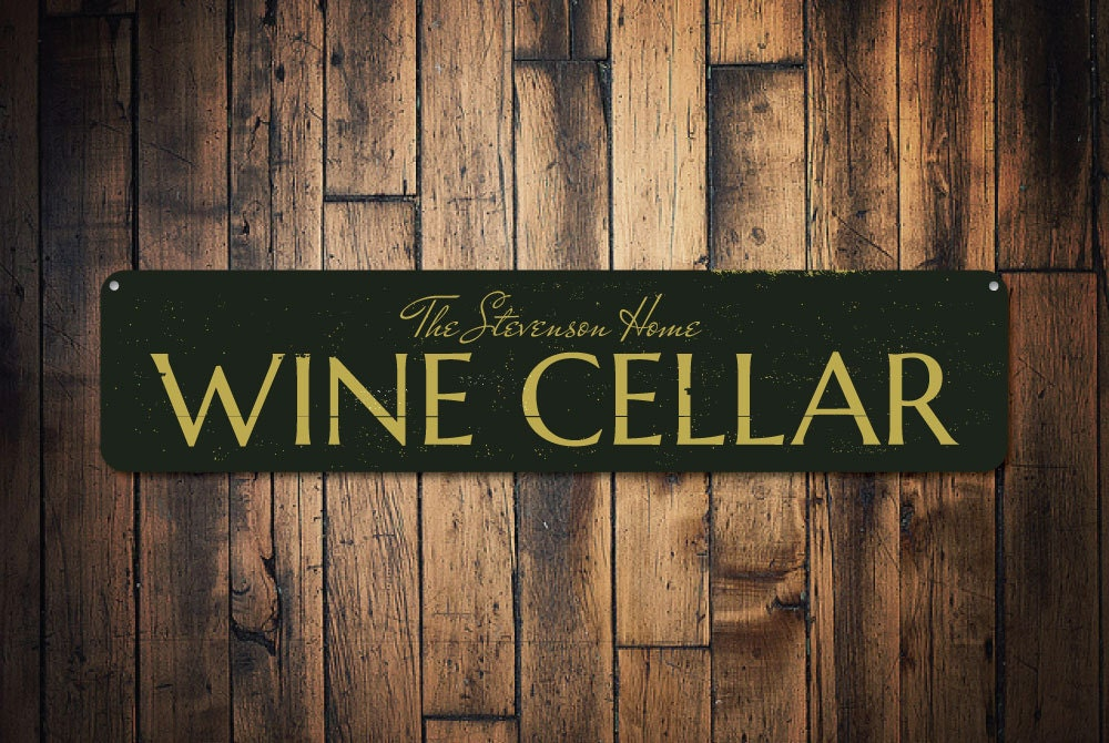 Wine Cellar Sign Personalized Home Wine Decor Custom Family