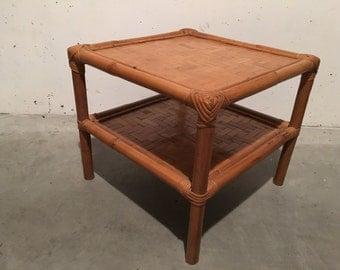 Coffee table bamboo 70s