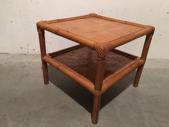 Coffee table bamboo 70s for Coffee tables 70s