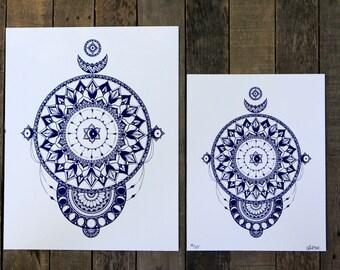 Enchantment of Time - Mandala Print Limited Edition