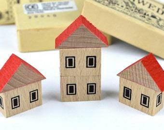 Mini Wooden Toy House ~ Fairy House ~ The Little Swedish House ~ Made in Germany ~ 1980s