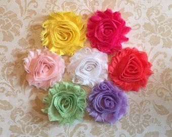 Shabby chic flower clips