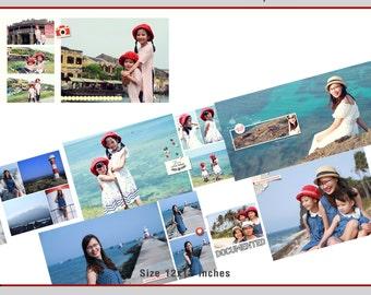 12x12 Travel times - Vol.2 (travel, photobook, album, wedding, baby, family, template, photoshop)