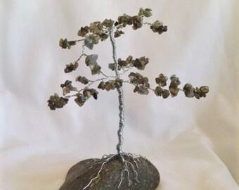 Feng Shui Labradorite Gem Tree