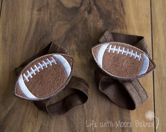 Baby Barefoot Sandal Football Patches, Interchangeable Football Barefoot Baby Sandals, Browns Baby Sandals, Football Baby Shoe, Brown Sandal