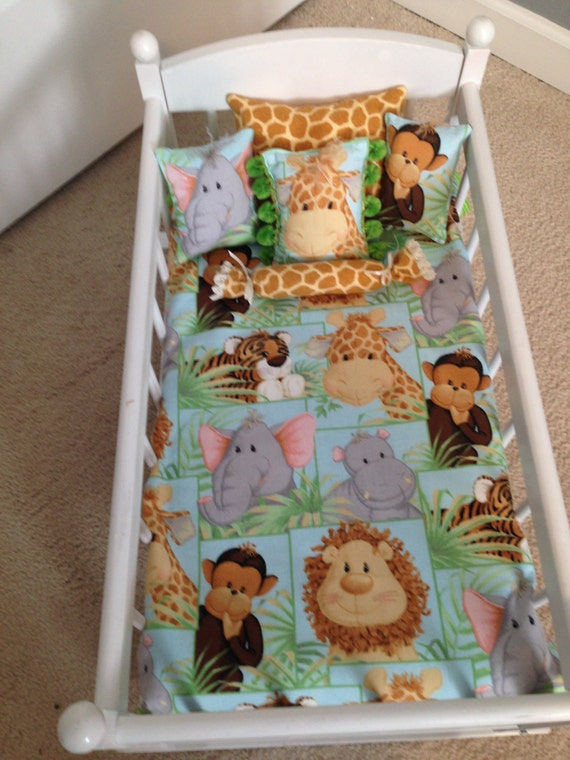 baby animals doll blanket and 5 pillows set. Black Bedroom Furniture Sets. Home Design Ideas