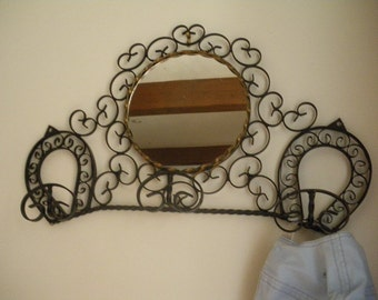 Coeur en fer forge etsy for Miroir fer forge