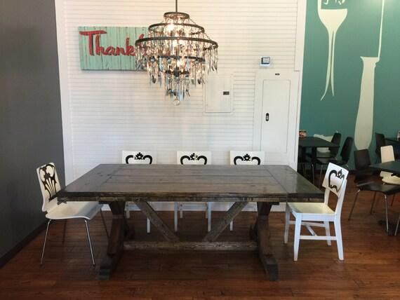 Items similar to 120 fountain square x farmhouse table for Table 6 kitchen canton ohio