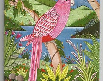 Note book 19. Pink parakeet